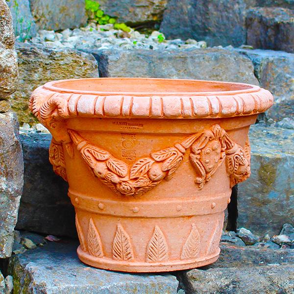 impruneta terracotta pflanztopf widder