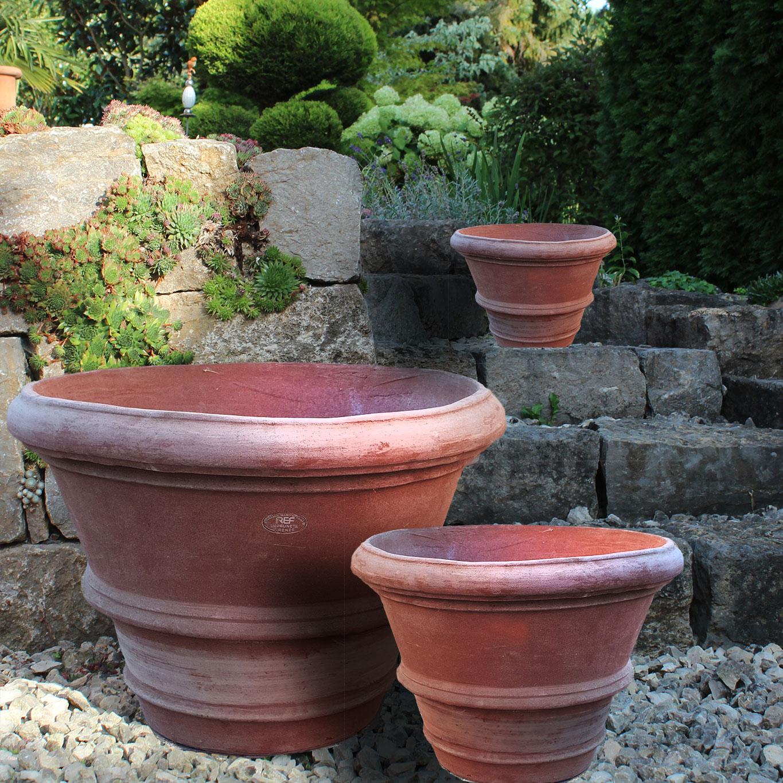 impruneta terracotta pflanztopf rund